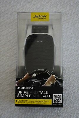 New Genuine JABRA Drive HFS004 Wireless Bluetooth in Car Speakerphone Handsfree
