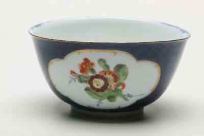 Meissen Rare Porcelain Decorated 18th Century Waste Bowl Dated 1745-1755