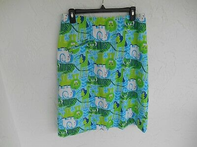 VINTAGE THE LILLY  LILLY PULITZER SKIRT WITH ZOO ANIMALS Sz 16