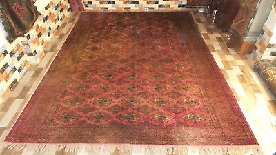 "A very old Afghan  Rug 100% Afghan handmade wool 9ft1"" X 12ft5"