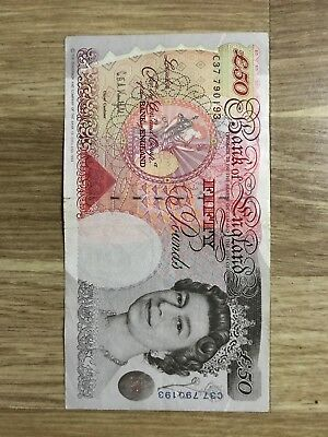 Old 50 Fifty Pound Note