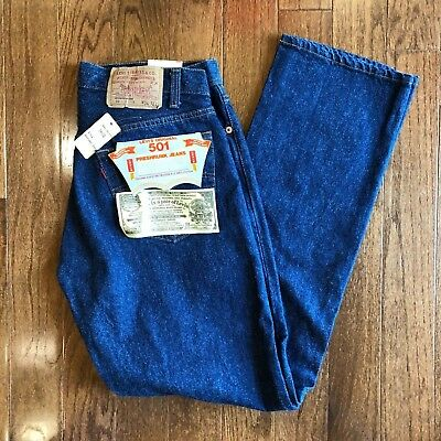 VINTAGE DEADSTOCK NWT Levi's 501xx Button Indigo 1984 made in USA Jeans 34x32