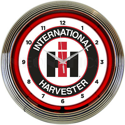 Neon clock Sign Case IH CaseIH International Harvester tractor farm shop light