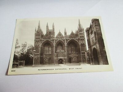 Postcard of Peterborough Cathedral, West Front (Unposted RP Kingsway)