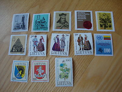 Lithuania post stamps, mint condition