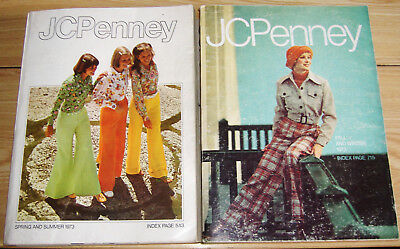 TWO (2) 1973 JC PENNEY CATALOGS - SPRING & SUMMER and FALL & WINTER EDITIONS