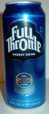 2009 16 oz.. FULL THROTTLE ENERGY CAN ( BLUE AGAVE ) EMPTY  TOP OPENED!