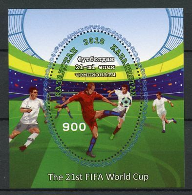 Kazakhstan 2018 MNH FIFA World Cup Football Russia 1v M/S Soccer Sports Stamps