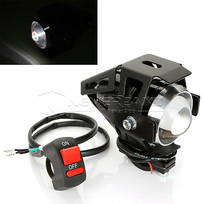 Universal Motorcycle 3000LM U5 LED Spot Drive Fog Head Light &Switch For Yamaha