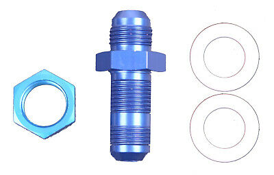 Racerdirect #8 An Fuel Cell Fitting With Washers Anodized Blue