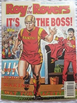 Roy of the Rovers Comic 16 12 1989 Exc