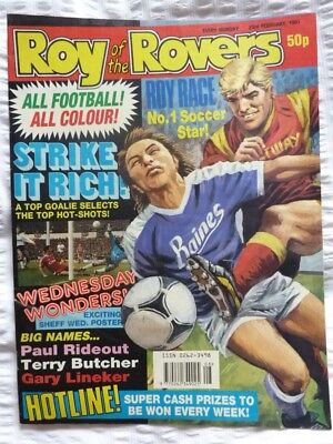 Roy of the Rovers Comic 23 02 1991 Exc Condition