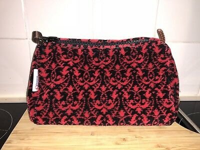 Washbag made of Great Northern Railway Seat Moquette Fabric