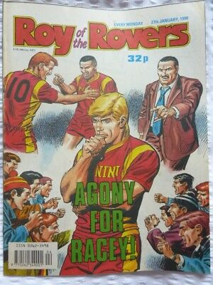 Roy of the Rovers Comic 27 01 1990 Exc