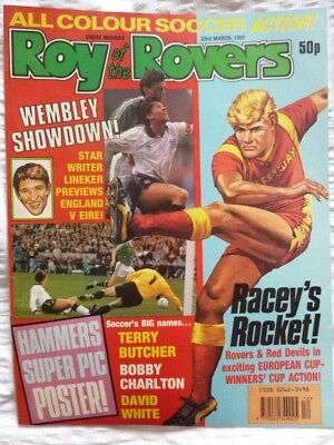 Roy of the Rovers Comic 22 03 1991 Exc Condition