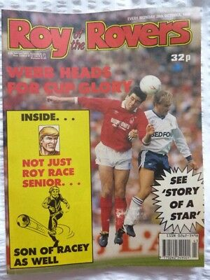 Roy of the Rovers Comic 28 10 1989 Exc
