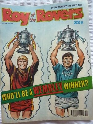 Roy of the Rovers Comic 12 05 1990 Exc