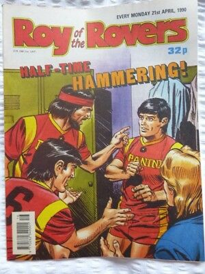 Roy of the Rovers Comic 21 04 1990 Exc