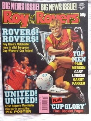 Roy of the Rovers Comic 11 05 1991 Exc Condition