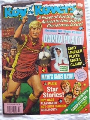Roy of the Rovers Comic 29 12 1990 Exc Condition