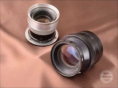 7097 -  M42 - 2 vintage lenses aprx 8in and 4in with 12 Blade Diaphragms