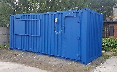CONTAINER OFFICE 21ft x 8ft Anti Vandal Site Cabin/Office/Canteen Blue