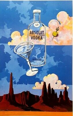 "Absolut ARIZONA 26 x 40"" Statehood Lithograph Printer's Proof Private Collection"