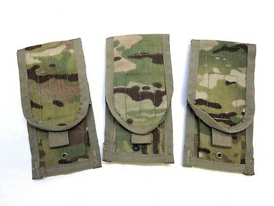 LOT OF (3) ARMY OCP MULTICAM DOUBLE MAGAZINE POUCH MOLLE TWO MAG 5.56/.223 b5