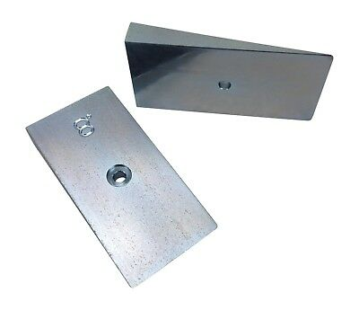 """Axle Shims, 8 degree, 2.5"""" wide, steel wedge, caster pinion angle  WFO 8.0"""
