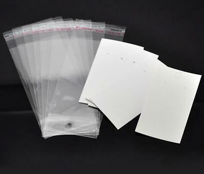 Earrings Display Cards 100 Pcs With Self Adhesive Bags Set For Ear Hooks