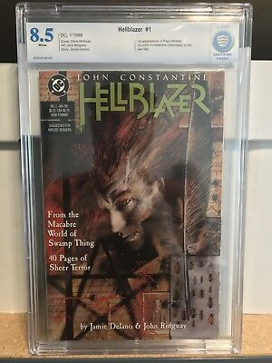 Hellblazer 1 Cbcs 8.5 - First Constantine In Own Title - Not Cgc 9.8