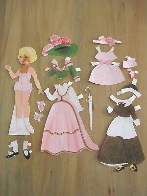 Vintage 1960's Paper Doll with Clothing & Accessories