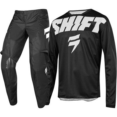NEW Shift MX 2019 WHIT3 Label York Black Jersey Pants Adult Motocross Gear Set