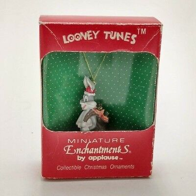 Vintage 90s Looney Tunes Minature Enchantments By Applause Bugs Bunny Ornament