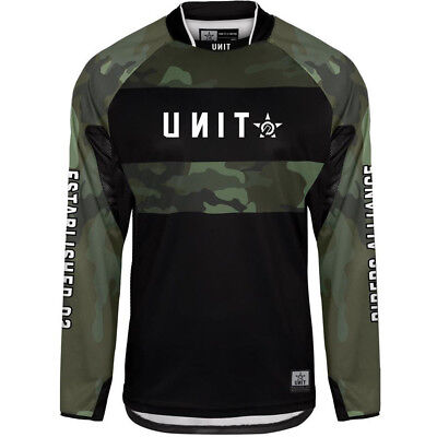 NEW Unit Mx 2019 Counter Camo Motocross Dirt Bike Jersey
