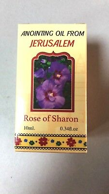 Rose of Sharon Anointing Oil 0.34 Biblical Perfume from Israel Holy Bible Land