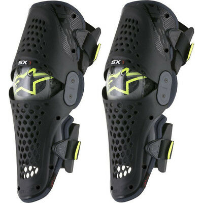 Alpinestars NEW Mx LE SX-1 Fluro Yellow Adult Dirt Bike Motocross Knee Guards