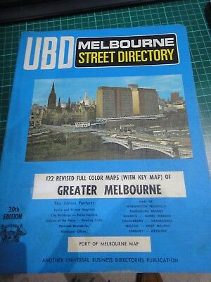 UBD Melbourne and Surrounds street directory 20TH EDITION RARE COPY