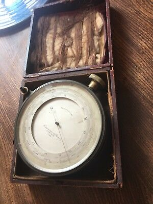 ANTIQUE Surveying Aneroid COMPENSATED  Barometer By Lawrence & Mayo London 5723