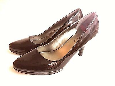 51e8779781 Bandolino Black Patent Closed Toe Pumps Heels Casual Career Work Size 9  Shoes