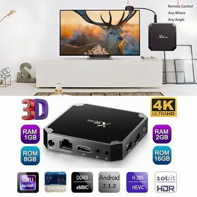 X96 Mini Smart TV Boîte Android 7.1 Amlogic Quad Core Wi-Fi HD 2go+16go 4k