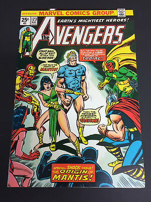 The Avengers #123 (Marvel)  Very Fine+ (8.5)  Mantis appearance!