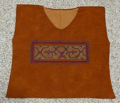 Traditional Hand Embroidered Shipibo Shaman Shirt Ayayhuasca NEW from PERU SMALL