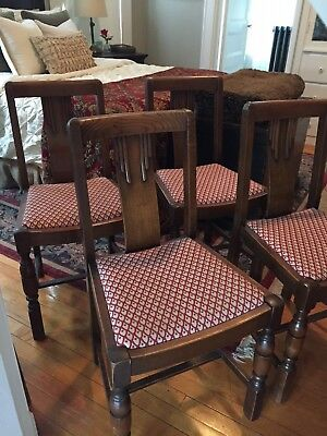 Set of Four Antique Art Deco Dining Chairs. Beautiful Details! Great Condition