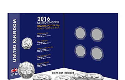 Rare 2016 for 5 Beatrix Potter 50p Fifty Pence Collecting Coin Album (NO COINS)