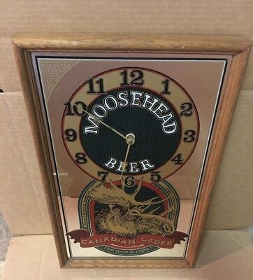 Moosehead Beer Clock Canadian Lager Vintage Moosehead Mirror Not Budweiser Clock