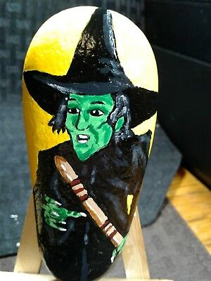 8 OF 8 WIZARD OF OZ WICKED WITCH ORIGINAL HAND PAINTED Rock Stone Art S FOSTER