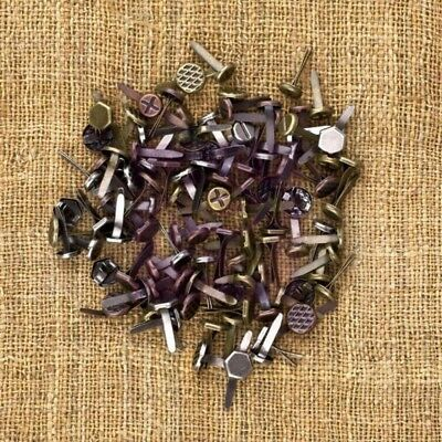 Prima Finnabair 'MECHANICALS BRADS' 100pc Metal Embellishments - Screws
