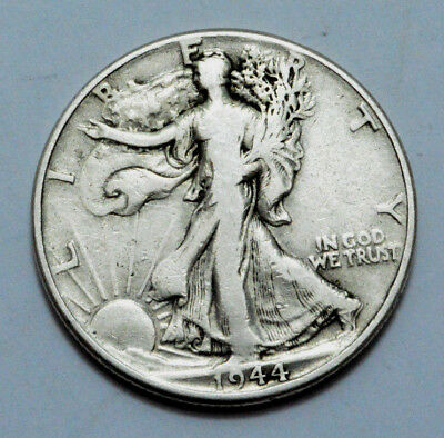 1944-P Walking Liberty Half Dollar Key Date US COIN 90% Silver, 50C .No Reserve!