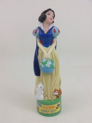 Snow White Disney Princess Figure/ Kid Care 10 oz Bubble Bath Bottle Vintage 90s